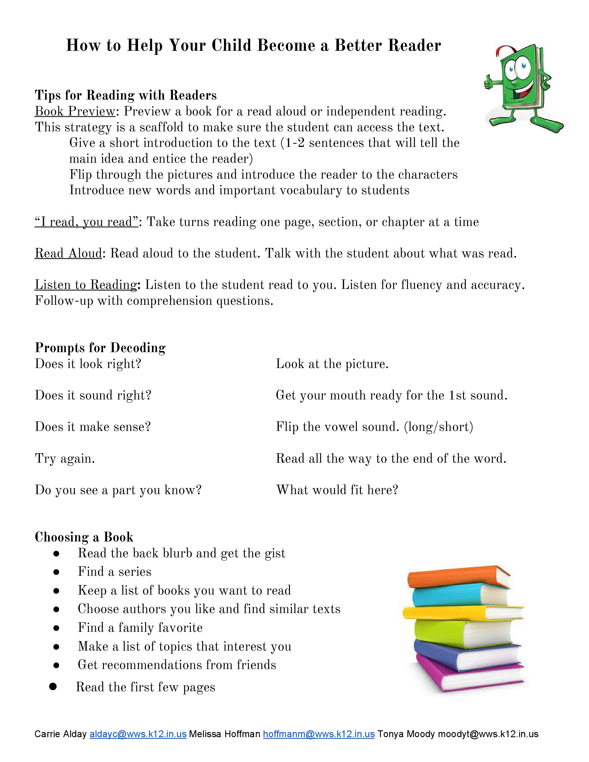 How to Help Your Child Become a Better Reader - WWS Parent