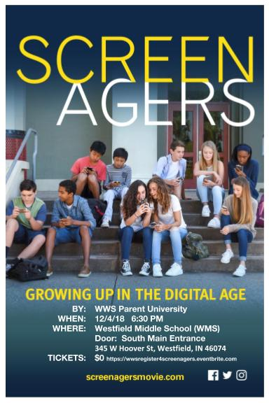 SCREENAGER - FREE - RSVP Requested @ Westfield Middle School