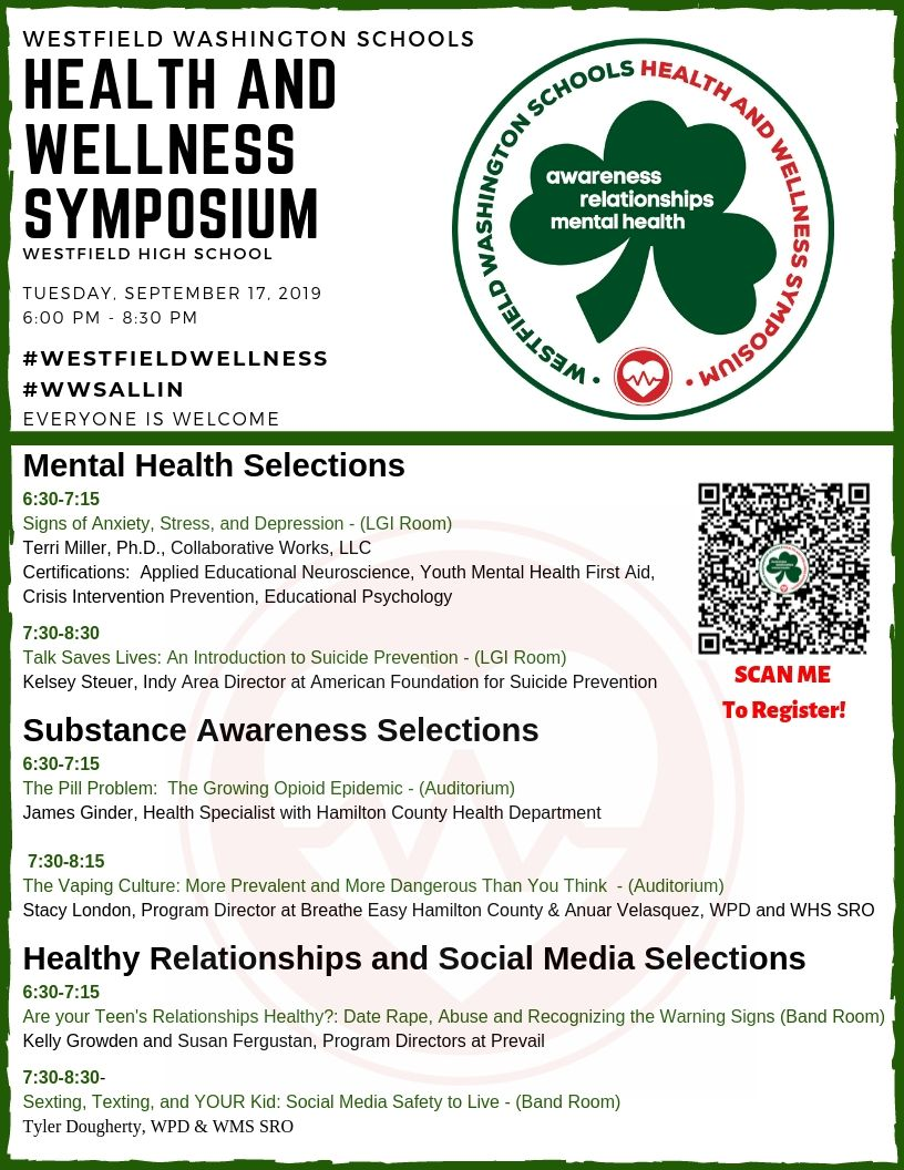 WWS Health and Wellness Symposium @ Westfield High School
