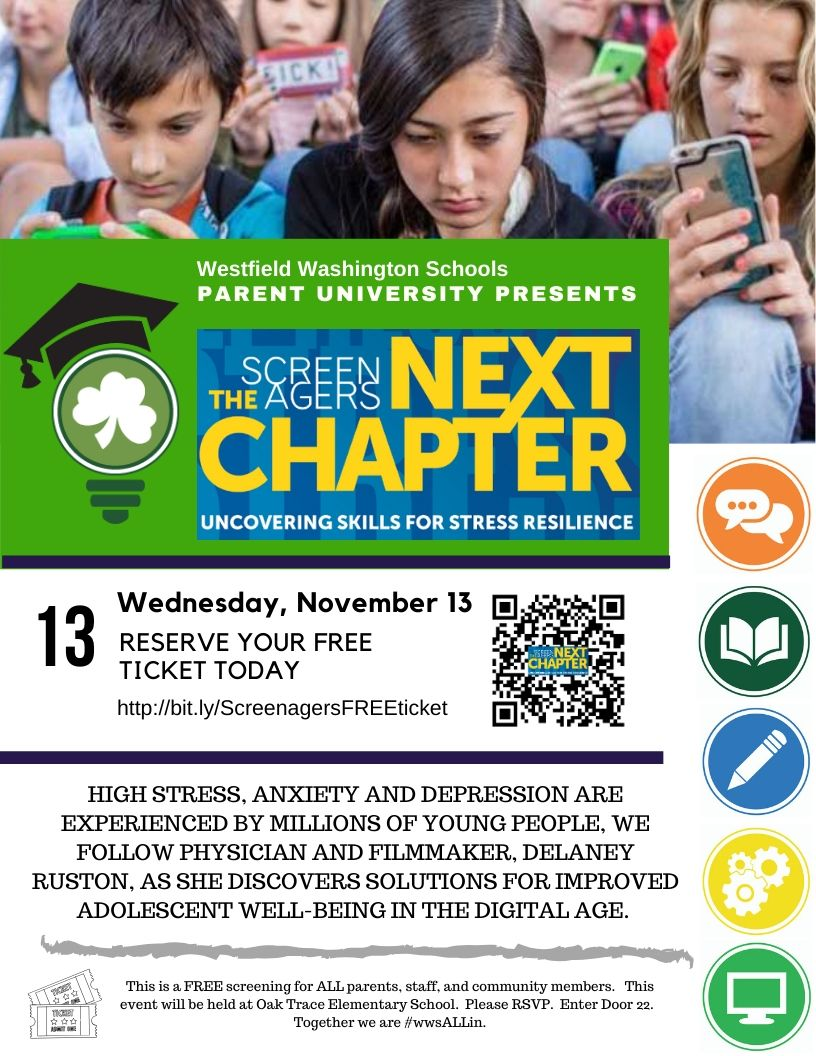 Screenagers The Next Chapter - RSVP FOR YOUR FREE TICKET @ Oak Trace Elementary School